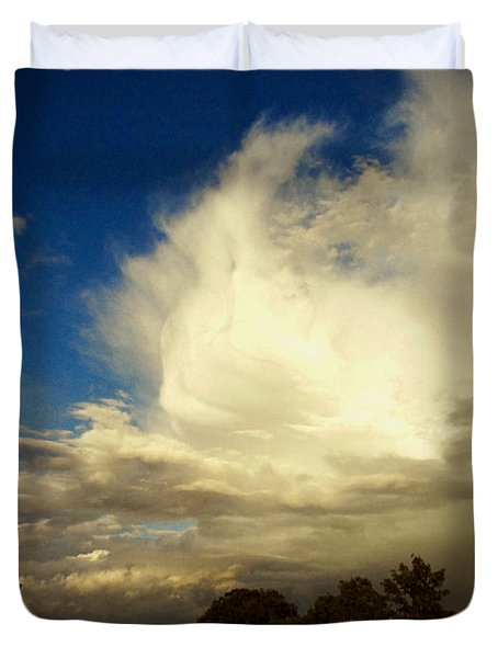 The Cloud - Horizontal Duvet Cover by Joyce Dickens