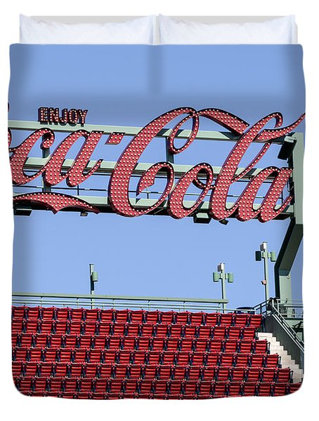 The Coca-Cola Corner Duvet Cover by Susan Candelario