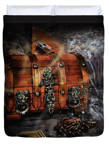 The Coffer Of Spells Duvet Cover by Alessandro Della Pietra
