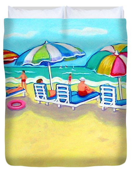 The Color Of Summer  Duvet Cover by Rebecca Korpita