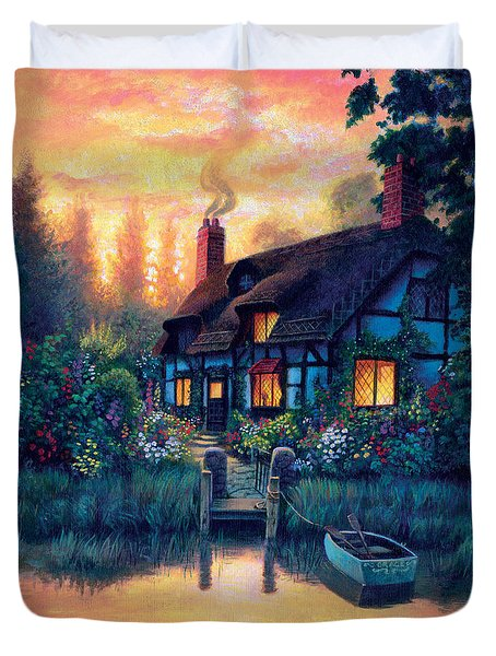 The Cottage Duvet Cover by MGL Studio - Chris Hiett