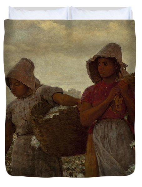 The Cotton Pickers Duvet Cover by Winslow Homer