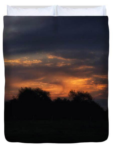 The Crack Of Dawn Duvet Cover by Thomas Woolworth