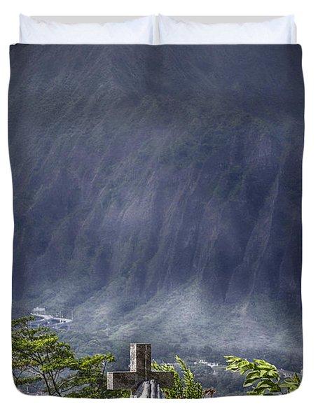 The Cross Duvet Cover by Douglas Barnard