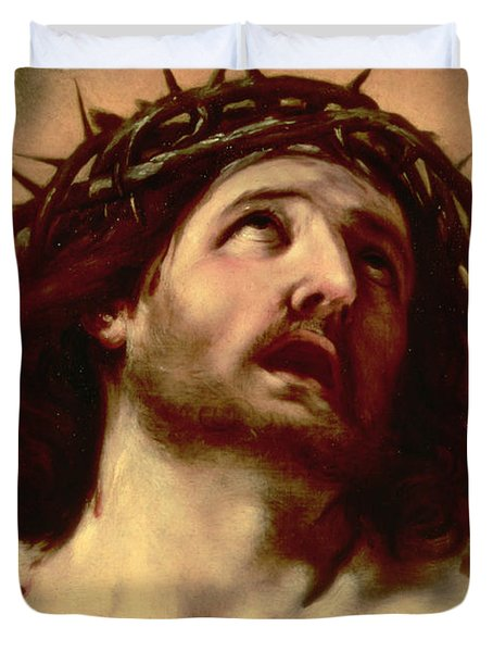 The Crown Of Thorns Duvet Cover by Guido Reni
