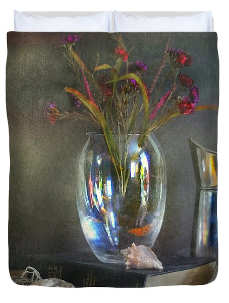 The Crystal Vase Duvet Cover by Diana Angstadt