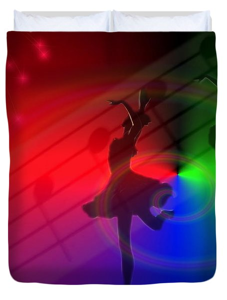 The Dance Duvet Cover by Joyce Dickens