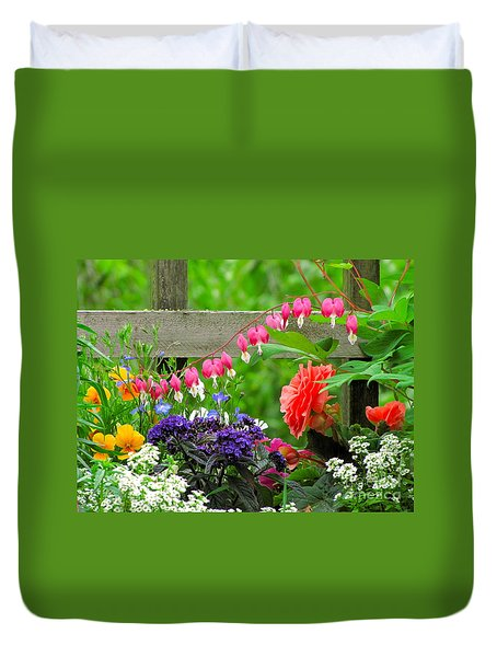The Dance Of Spring Duvet Cover by Sean Griffin