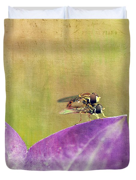 The Dance Of The Hoverfly Duvet Cover by Cindi Ressler