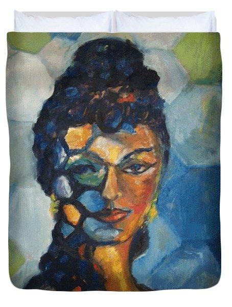 The Dancer Duvet Cover by Jan Statman