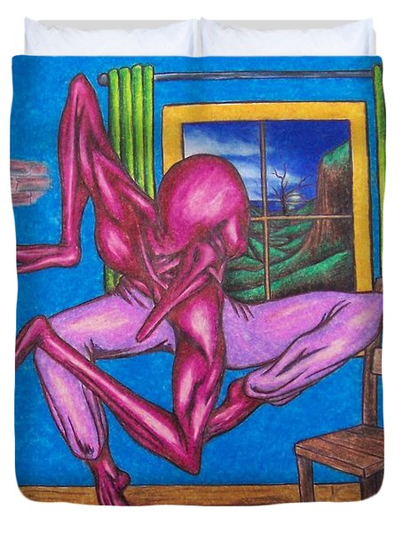The Dancer Duvet Cover by Michael  TMAD Finney