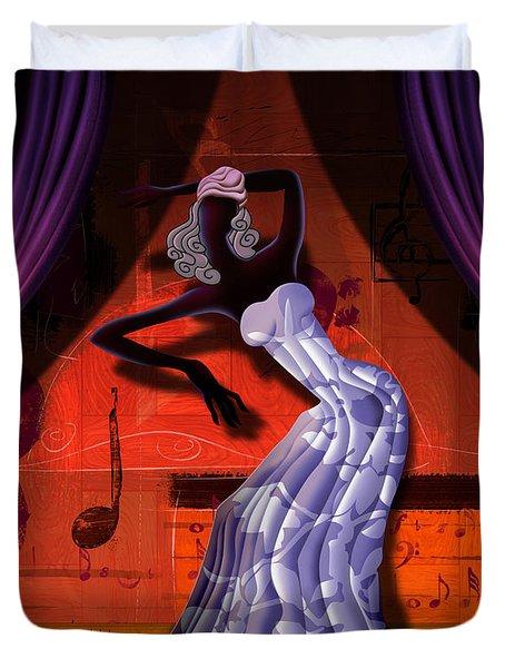 The Dancer V2 Duvet Cover by Bedros Awak