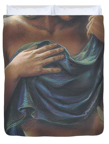 The Dark Dancer Crop Duvet Cover by Zorina Baldescu