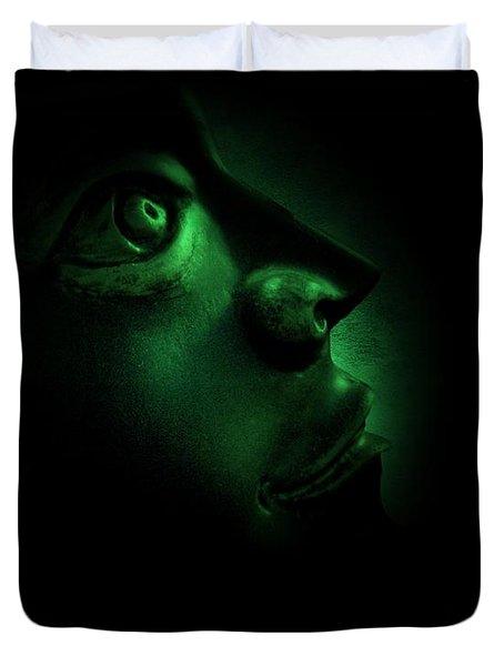 The Darkest Hour Cyan Duvet Cover by David Dehner