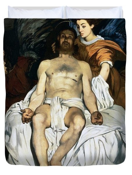 The Dead Christ And Angels Duvet Cover by Edouard Manet
