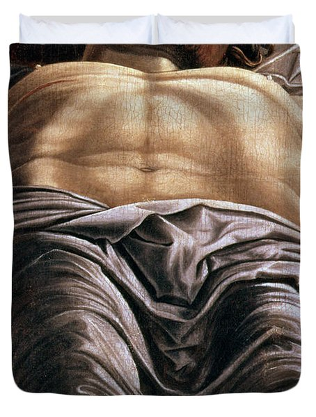 The Dead Christ Duvet Cover by Andrea Mantegna
