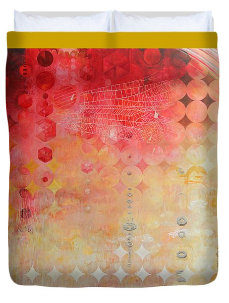 The Decay Of Starlight Duvet Cover by Sandra Cohen