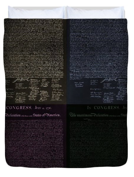 THE DECLARATION OF INDEPENDENCE in NEGATIVE COLORS Duvet Cover by ROB HANS