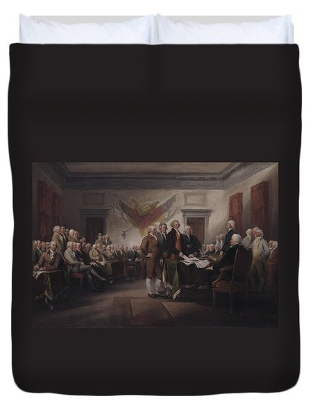 The Declaration Of Independence, July 4, 1776 Duvet Cover by John Trumbull