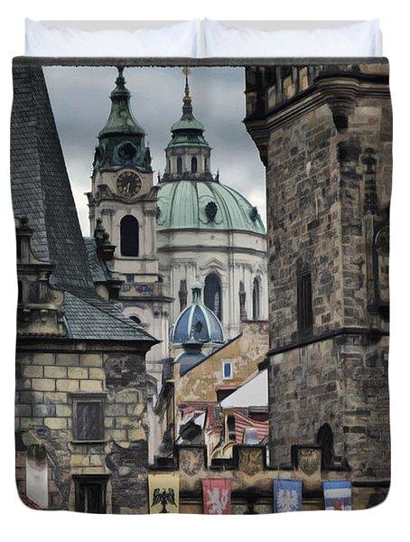 The Depths of Prague Duvet Cover by Joan Carroll