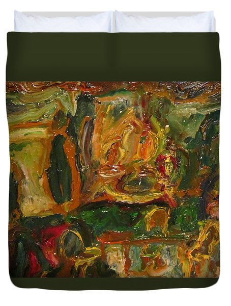 The Dining Room Duvet Cover by Shea Holliman