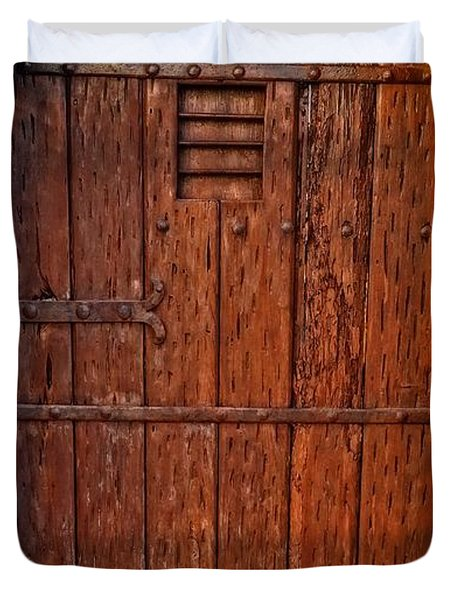 The Door - Vintage Art By Sharon Cummings Duvet Cover by Sharon Cummings