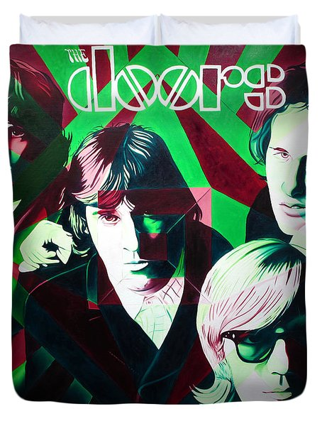 The Doors Duvet Cover by Joshua Morton