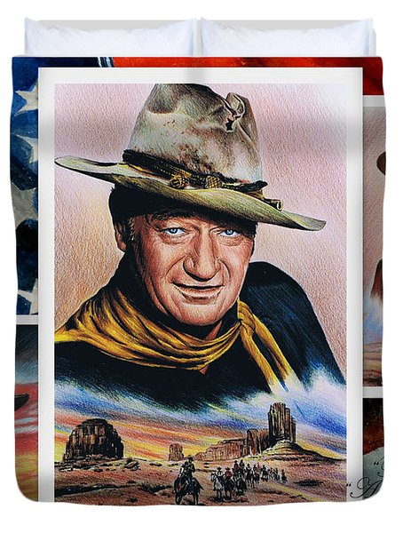The Duke American Legend Duvet Cover by Andrew Read
