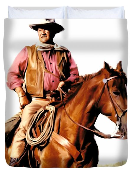 The Duke  John Wayne Duvet Cover by Iconic Images Art Gallery David Pucciarelli