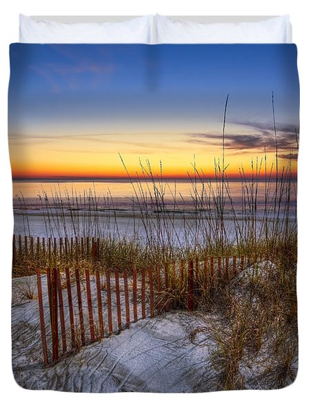 The Dunes at Sunset Duvet Cover by Debra and Dave Vanderlaan