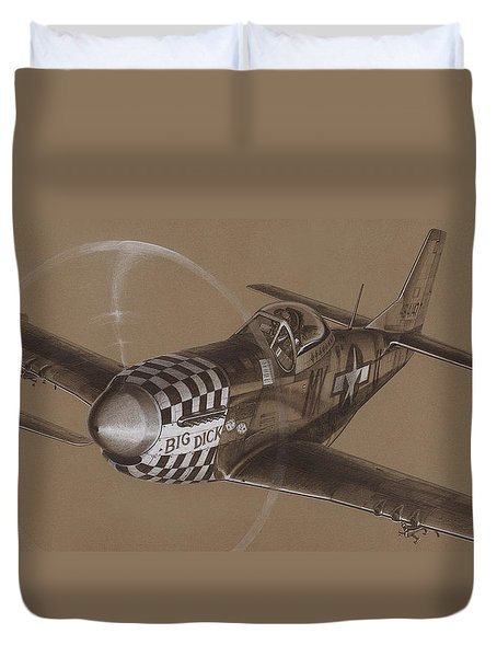 The Duxford Boys Drawing Duvet Cover by Wade Meyers