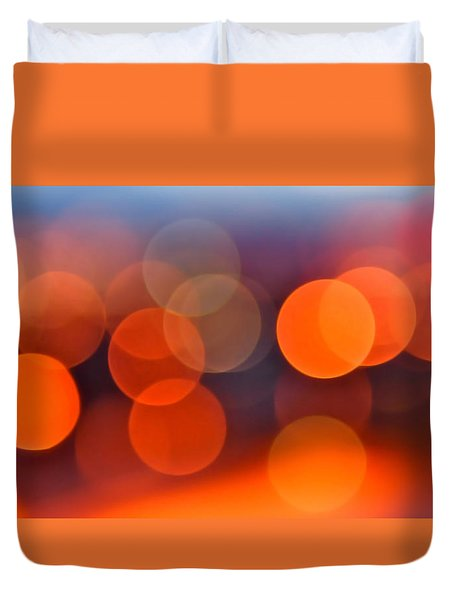 The Edge of Night Duvet Cover by Rona Black