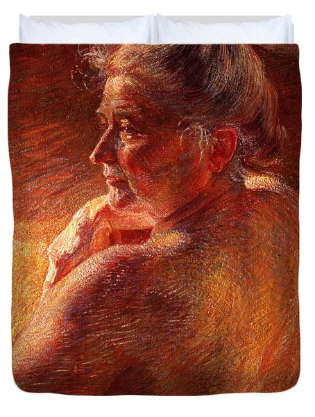 The Effect Of Sunlight Duvet Cover by Umberto Boccioni