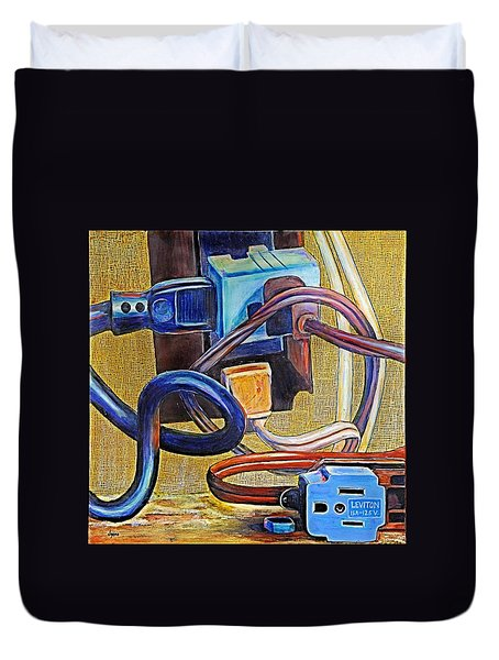 The Electronic Age Duvet Cover by JAXINE Cummins
