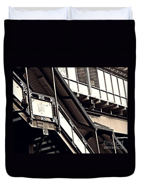The Elevated Station At 125th Street 2 Duvet Cover by Sarah Loft