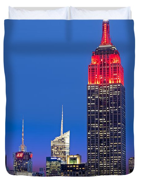 The Empire State Building Duvet Cover by Susan Candelario