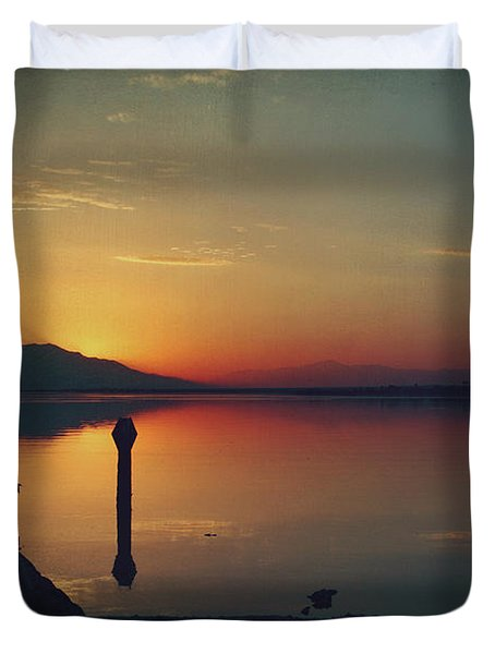 The End Of Another Day Without You Duvet Cover by Laurie Search