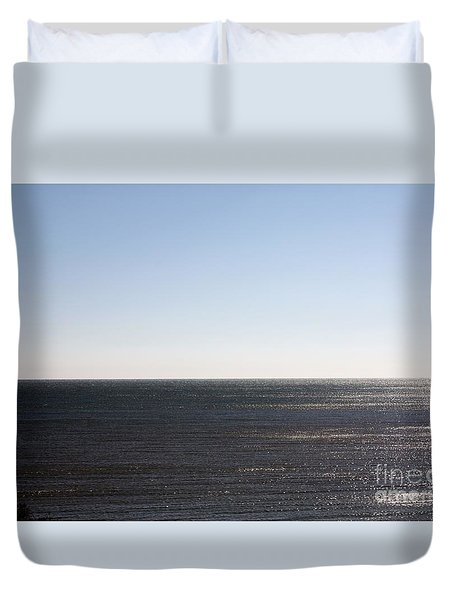 The End Of Long Island Duvet Cover by John Telfer