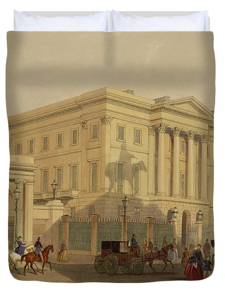 The Exterior Of Apsley House, 1853 Duvet Cover by English School