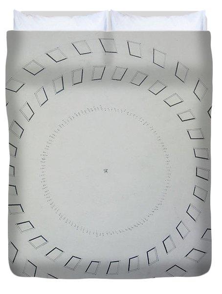 The Eye Of Pi Duvet Cover by Jason Padgett