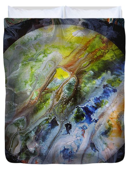 The Eye Of Silence Duvet Cover by Otto Rapp