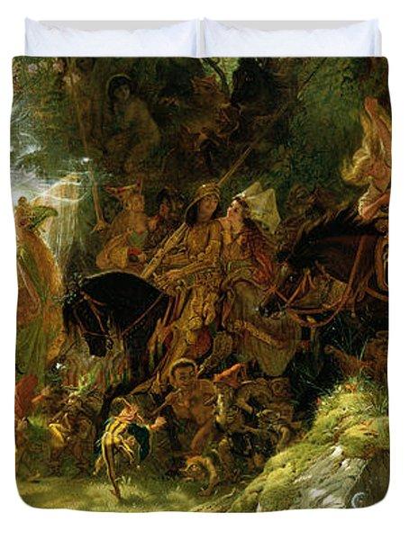 The Fairy Raid Duvet Cover by Sir Joseph Noel Paton