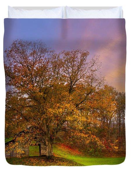 The Farm Duvet Cover by Debra and Dave Vanderlaan