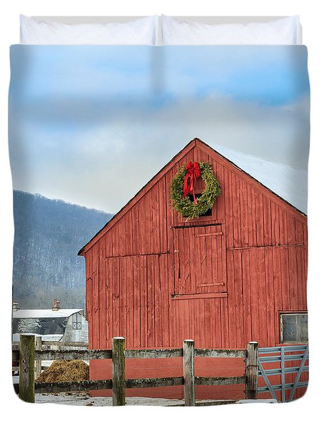 The Farm Square Duvet Cover by Bill  Wakeley