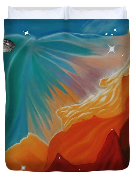 The Final Frontier Duvet Cover by Barbara McMahon
