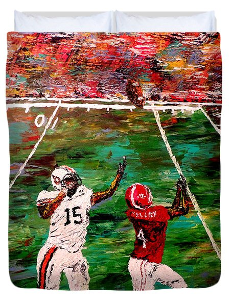 The Final Yard Roll Tide  Duvet Cover by Mark Moore