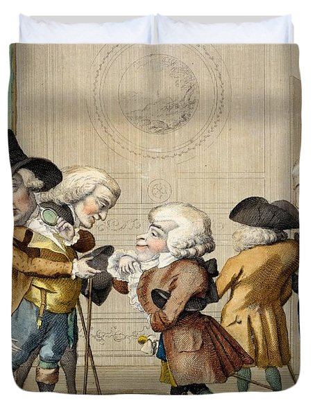 The First Approach, C.1790 Duvet Cover by Carlo Lasinio