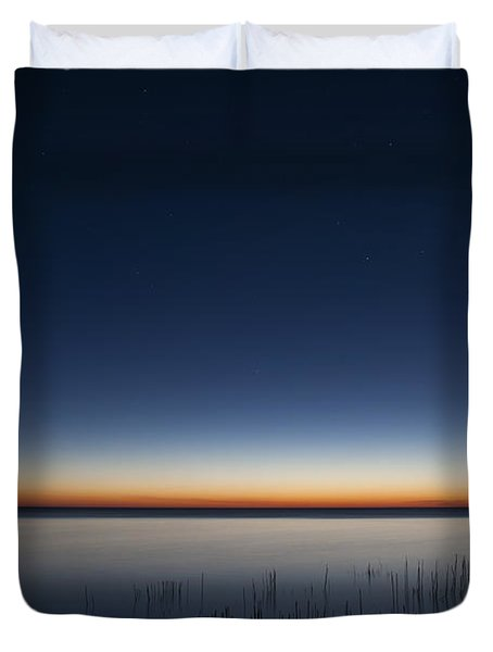 The First Light Of Dawn Duvet Cover by Scott Norris