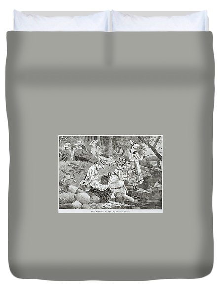 The Fishing Party Duvet Cover by Winslow Homer