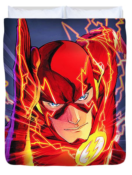 The Flash Duvet Cover by FHT Designs